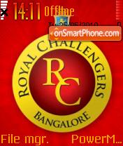 Royal Challengers tema screenshot