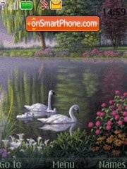 Nature Swan V2 theme screenshot