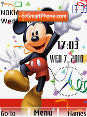 Mickey Dual Clock theme screenshot