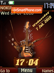Funky Guitar Swf theme screenshot