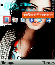 Megan Fox 22 theme screenshot