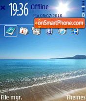 Beach Blaze v2 01 theme screenshot