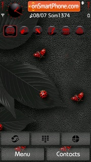 Red Bugs v5 theme screenshot