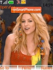 Shakira 09 theme screenshot