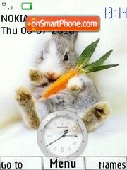 Swf Rabbit Clock theme screenshot