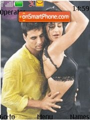 Akshay and Katrina theme screenshot