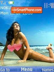 Nude Beach Girl theme screenshot