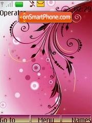 Lilac patterns theme screenshot