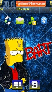 Bart simpson 06 theme screenshot