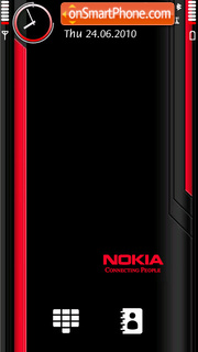 Red Black Nokia es el tema de pantalla