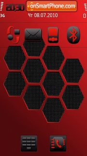 Hexagon tema screenshot