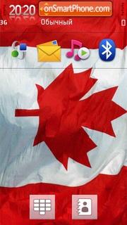 Скриншот темы Canada Flag