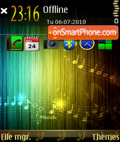 Music 5317 theme screenshot