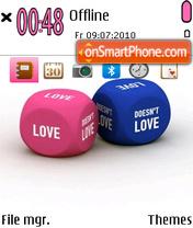 Love And Dice Game es el tema de pantalla