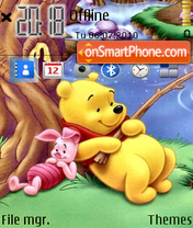 Pooh Fishing theme screenshot