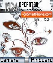 Abstract eyes theme screenshot