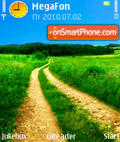 Yellow Road theme screenshot