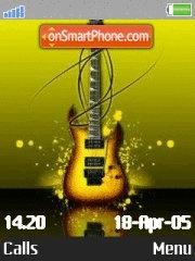 Lumines guitar es el tema de pantalla