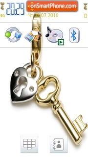 Heart Key theme screenshot