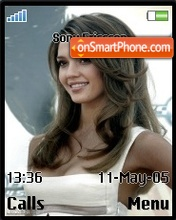 Jessica Alba theme screenshot