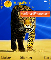 Leopard Art theme screenshot