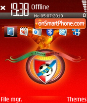 Benfica tema screenshot