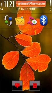 Red Leaves tema screenshot