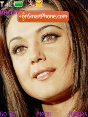 Preity Zinta theme screenshot