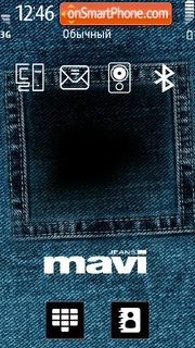Скриншот темы Mavi Jeans