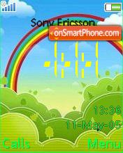 Rainbow ani clock fl1.1 es el tema de pantalla