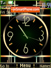Golden Black Clock theme screenshot