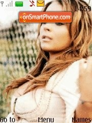 Lindsay Lohan 16 theme screenshot
