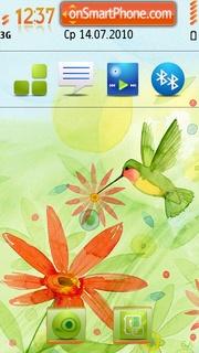 Flowers bird theme screenshot