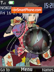 Gokudera Hayato clock tema screenshot