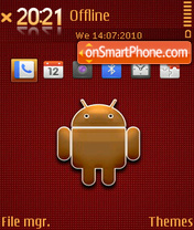 Golden android theme screenshot