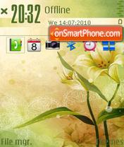 Flower of spring 01 es el tema de pantalla