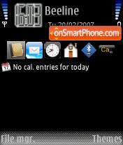 Iphone3 es el tema de pantalla