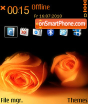 Orange rose 01 es el tema de pantalla