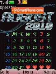 Capture d'écran August Calendar 2010 thème