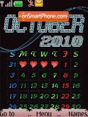 October Calendar 2010 theme screenshot