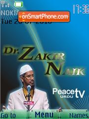 Capture d'écran Dr. Zakir Naik SWF thème