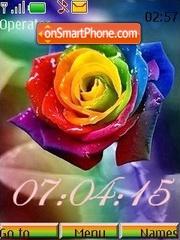 Iridescent roses theme screenshot