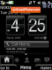 Techno Clock theme screenshot
