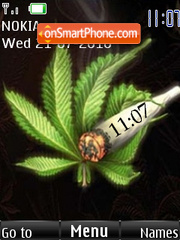 Weeds Clock theme screenshot