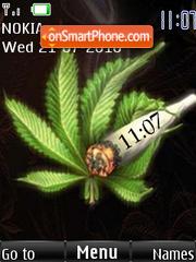 Weeds Clock es el tema de pantalla