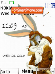 Bugs Bunny Clock 01 theme screenshot