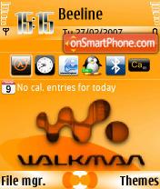 Walkman2 240 yI theme screenshot