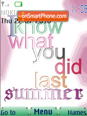 Скриншот темы I Know What You Did Last Summer SWF