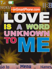 Love is a Word Unknown To Me SWF theme screenshot
