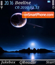Outer Space Blue tema screenshot